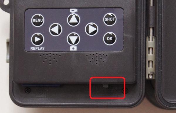 Ratespiel: Steht der Schiebeschalter jetzt auf OFF, TEST oder ON?! - Bild: Wildkamera-Test.com