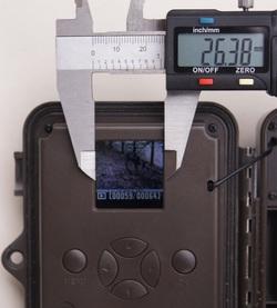 Der Bildschirm der Dörr SnapShot Mini ist zur Bildbetrachtung ungeeignet - Bild: Wildkamera-Test.com