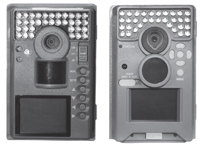 vergleich der Bedienungselemente der alten Moultrie M-990i (links) und der neuen M-990i-Version (rechts) - Bild: Wildkamera-Test.com
