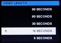 Die optionalen Videolängen gehen an der Praxis vorbei - Bild: Wildkamera-Test.com